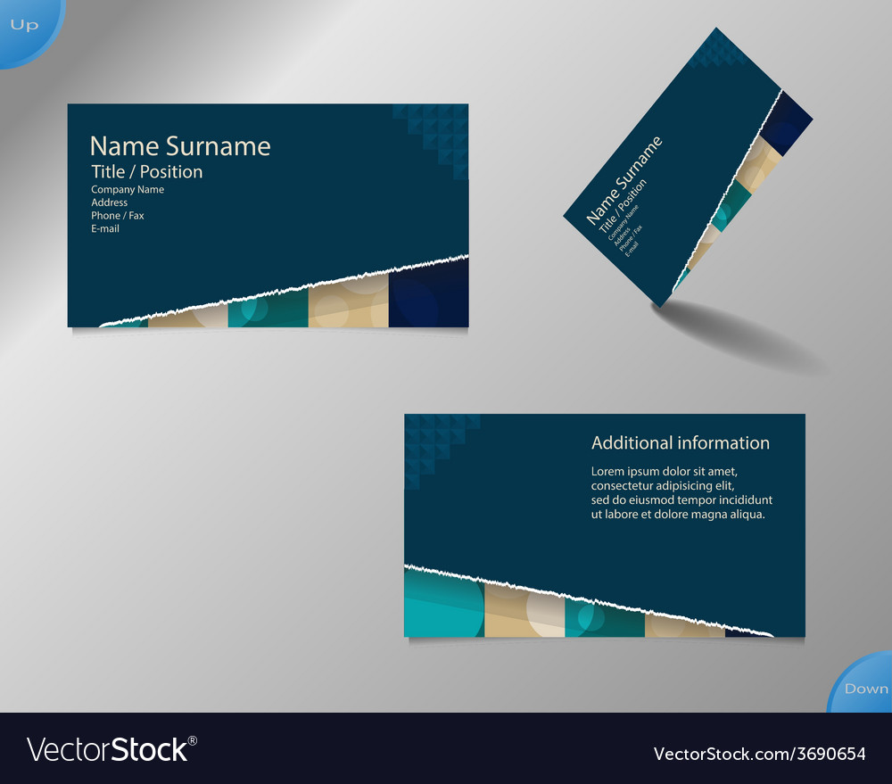 New dark blue business card layout vector | Price: 1 Credit (USD $1)