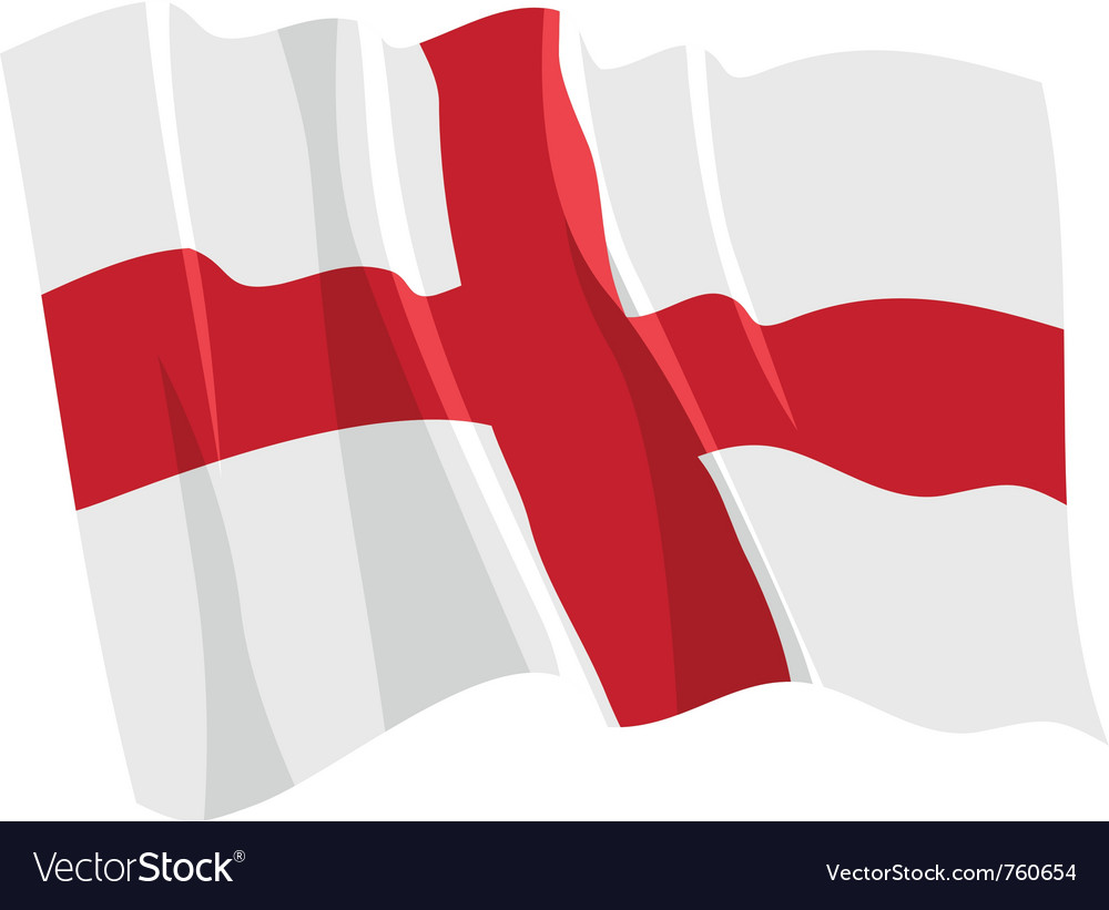Political waving flag of england vector | Price: 1 Credit (USD $1)