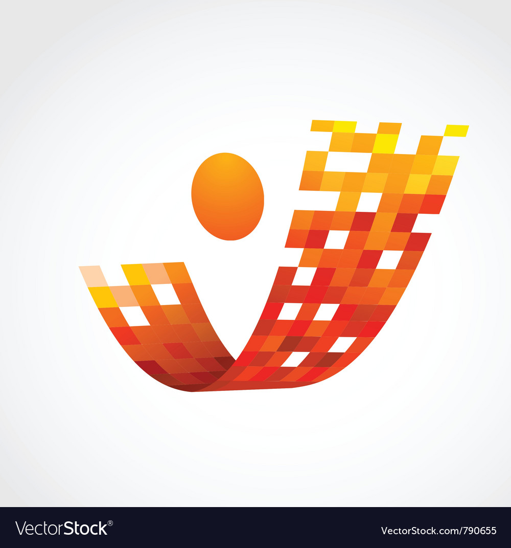 Abstract human icon business and success vector | Price: 1 Credit (USD $1)