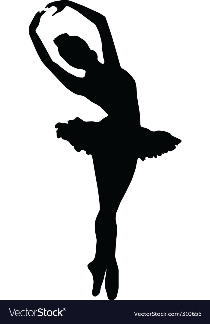 Ballet silhouettes vector | Price: 1 Credit (USD $1)
