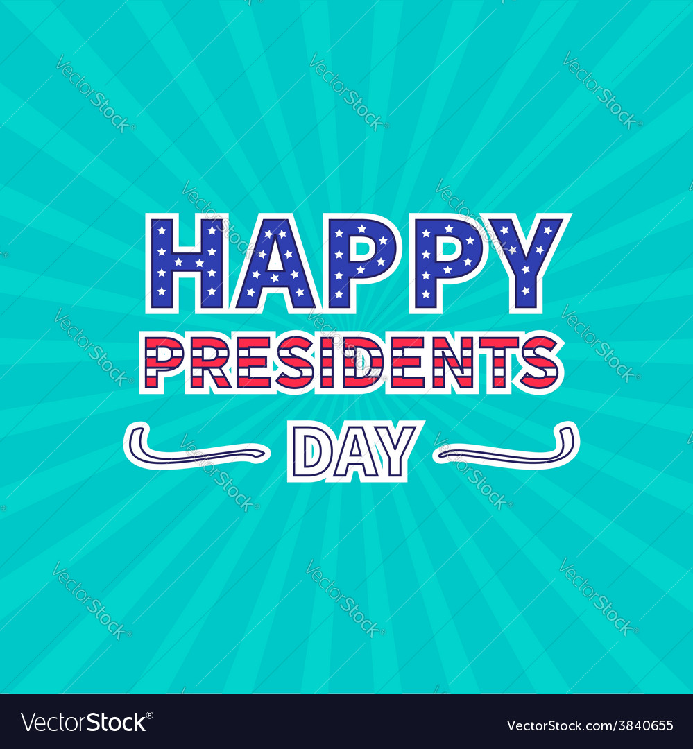 Blue sunburst with ray of light presidents day vector | Price: 1 Credit (USD $1)