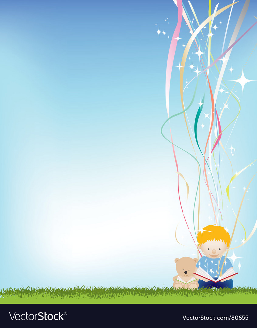 Boy reading magic vector | Price: 1 Credit (USD $1)