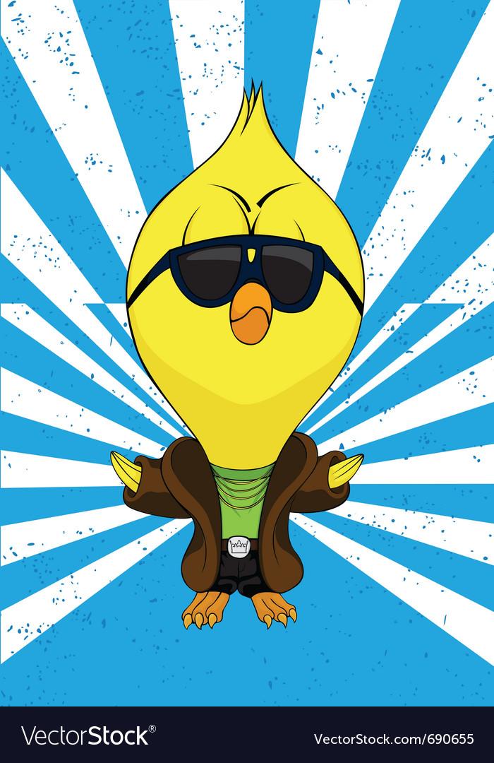 Cartoon chick vector | Price: 1 Credit (USD $1)