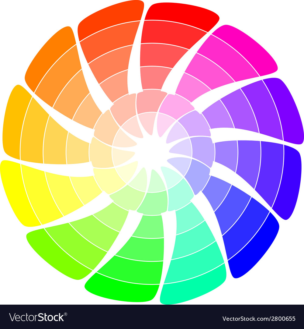 Color wheel from arrows vector | Price: 1 Credit (USD $1)