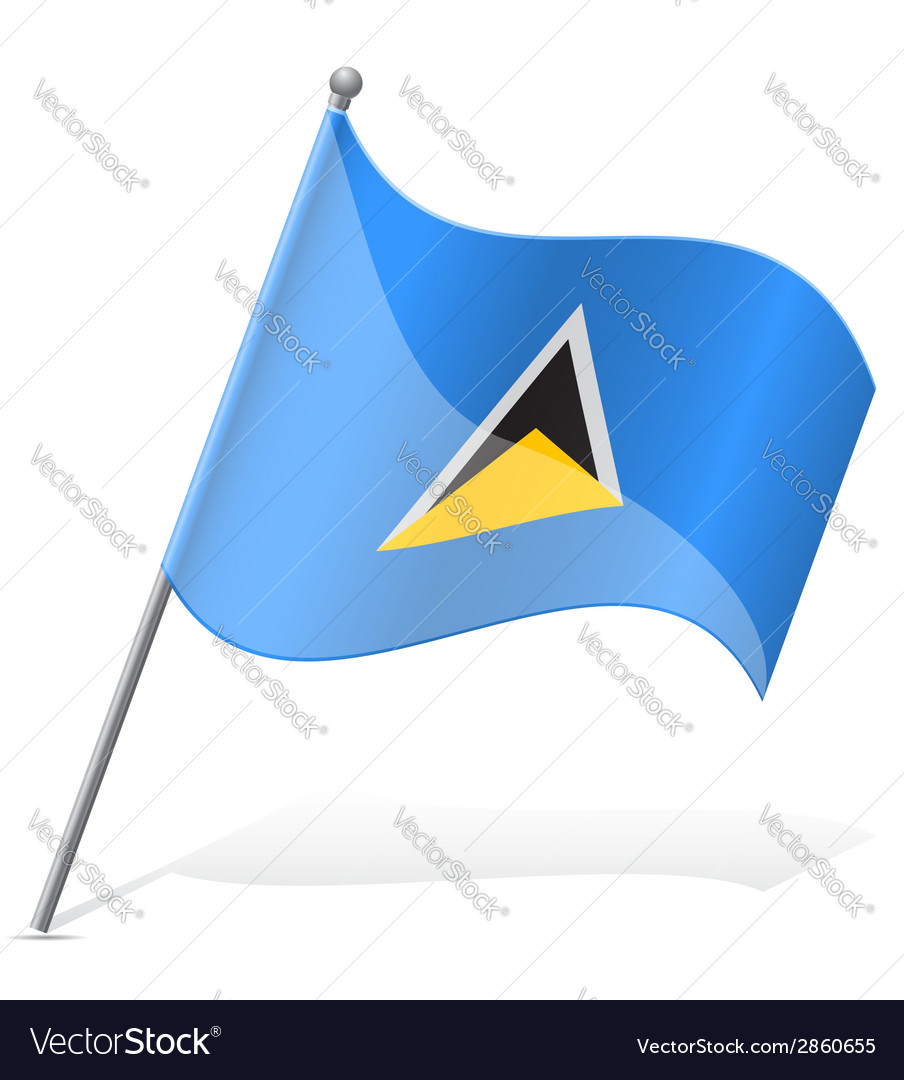 Flag of saint lucia vector | Price: 1 Credit (USD $1)