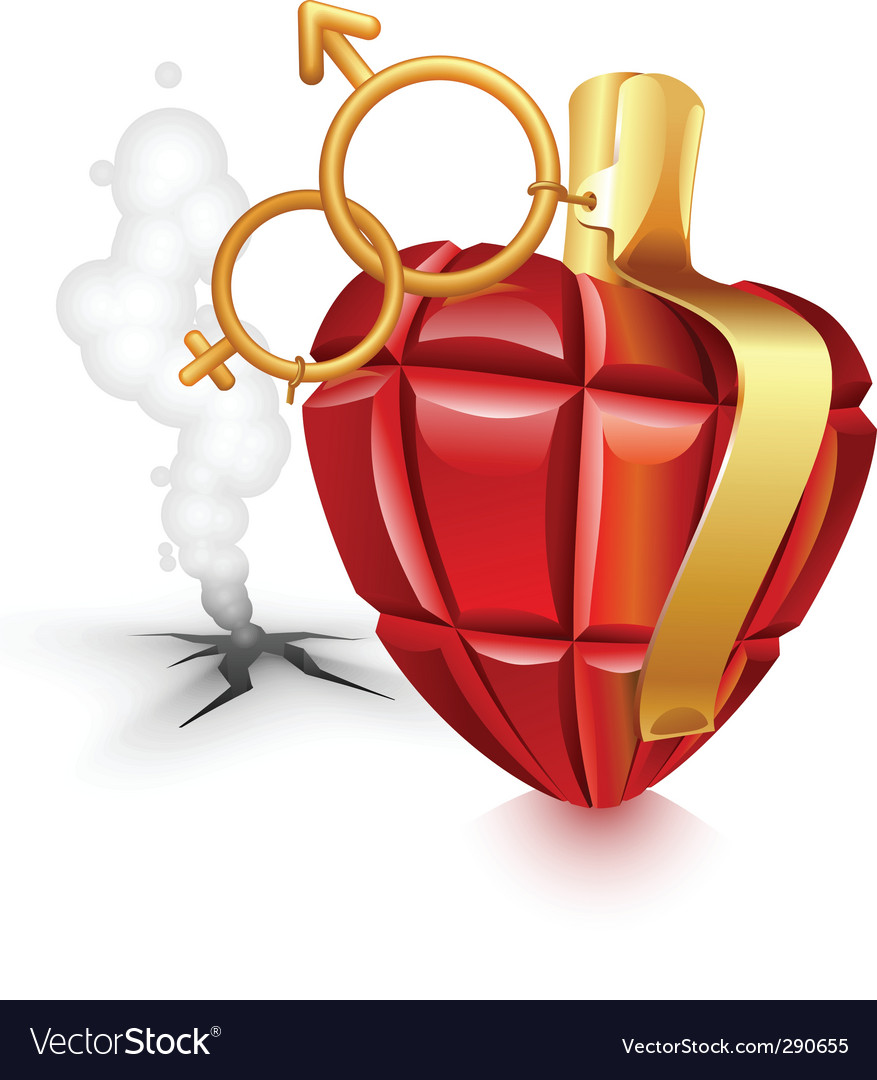 Grenade heart vector | Price: 3 Credit (USD $3)
