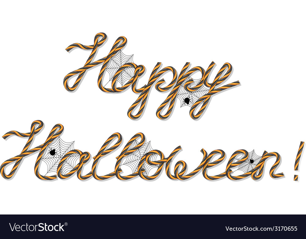 Happy halloween greeting vector | Price: 1 Credit (USD $1)
