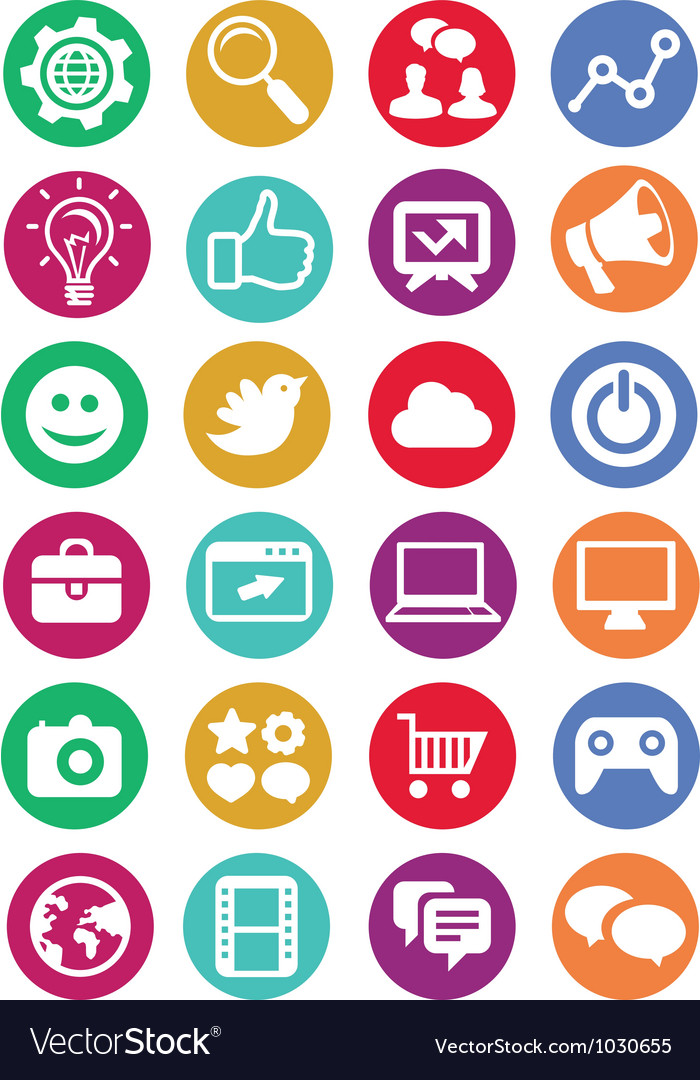 Internet marketing icons vector | Price: 1 Credit (USD $1)