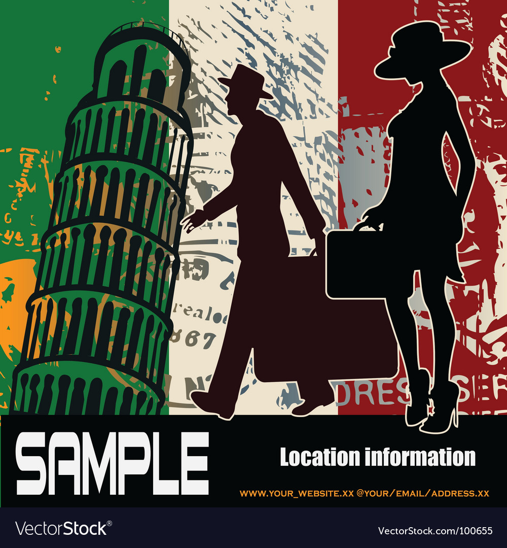 Italian travel background vector | Price: 1 Credit (USD $1)