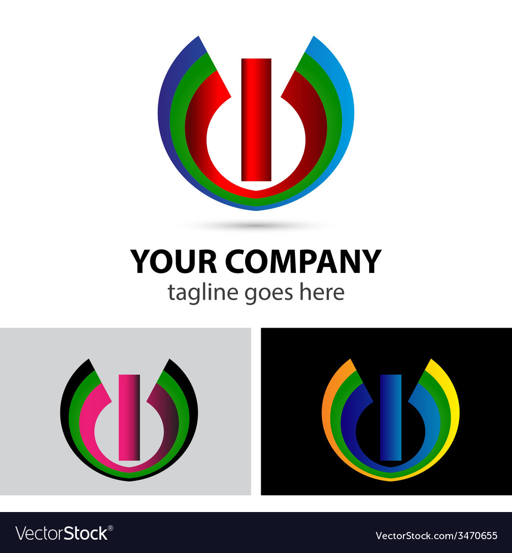 Logo letter i company design template vector | Price: 1 Credit (USD $1)