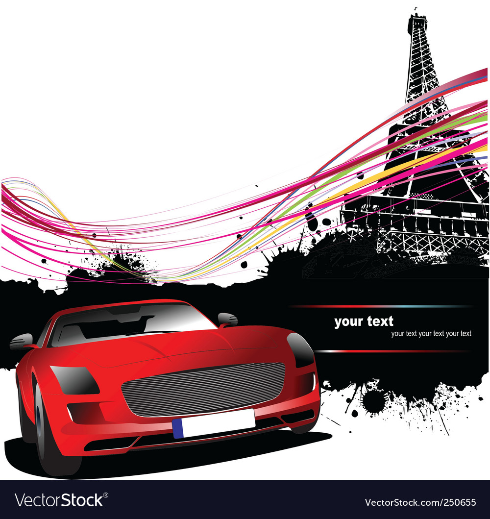Paris silhouette vector | Price: 1 Credit (USD $1)