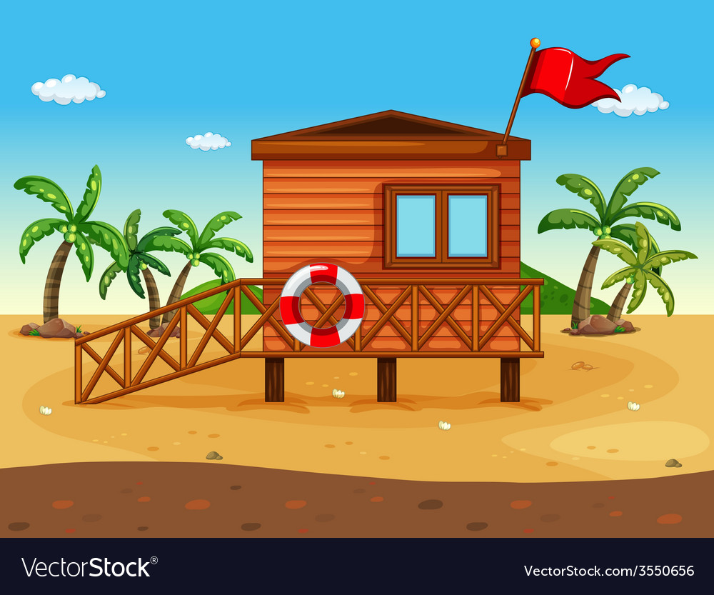 A lifeguards house vector | Price: 3 Credit (USD $3)