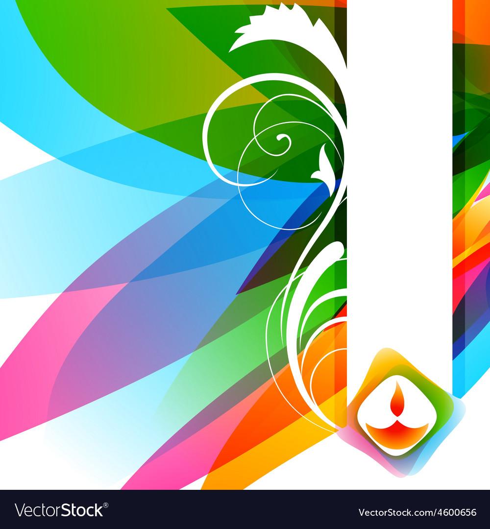 Attractive background of diwali vector | Price: 1 Credit (USD $1)