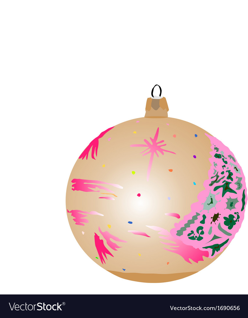 Bauble brown vector | Price: 1 Credit (USD $1)