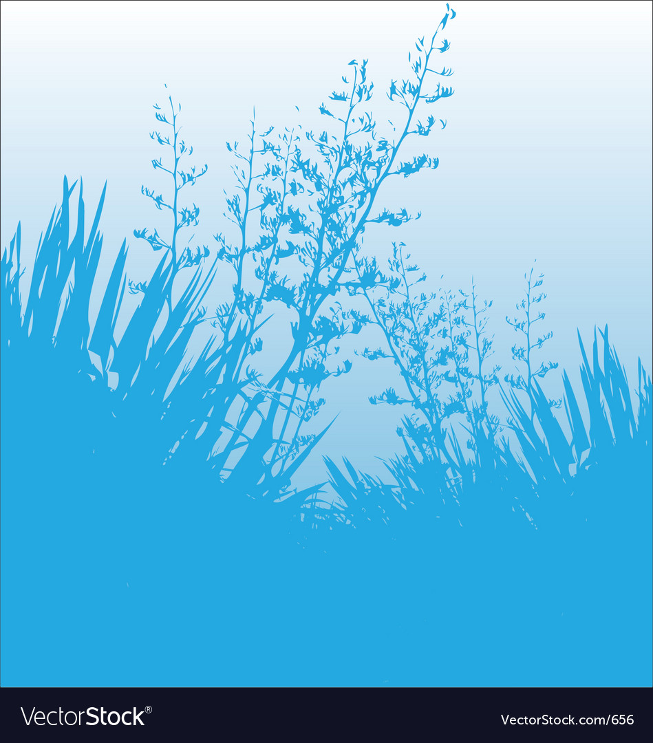 Blue flax vector | Price: 1 Credit (USD $1)