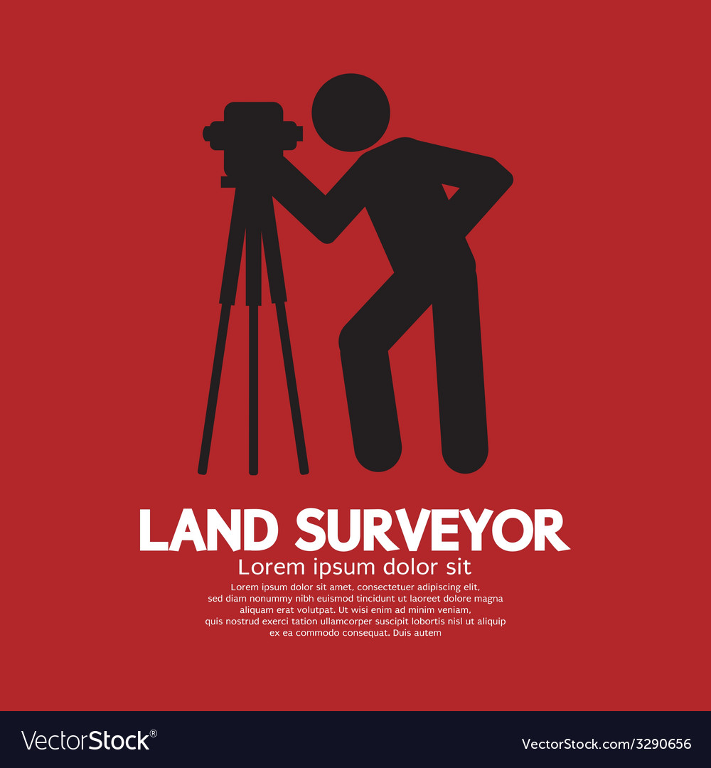 Land surveyor black graphic symbol vector | Price: 1 Credit (USD $1)