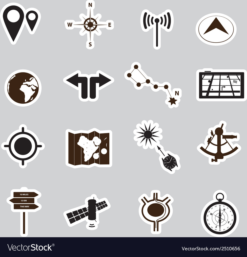Navigation stickers set eps10 vector | Price: 1 Credit (USD $1)