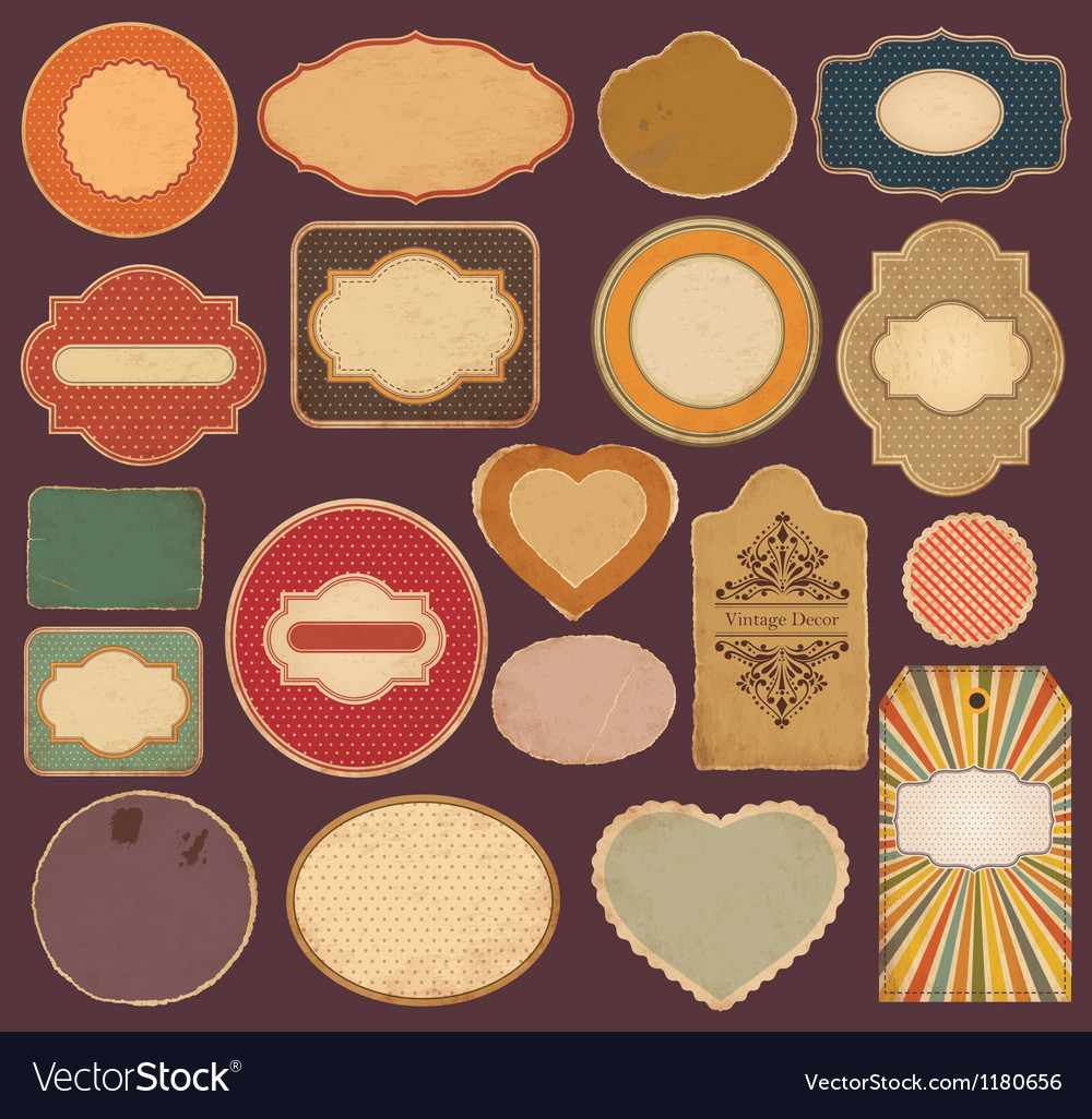 Set of vintage labels vector | Price: 1 Credit (USD $1)