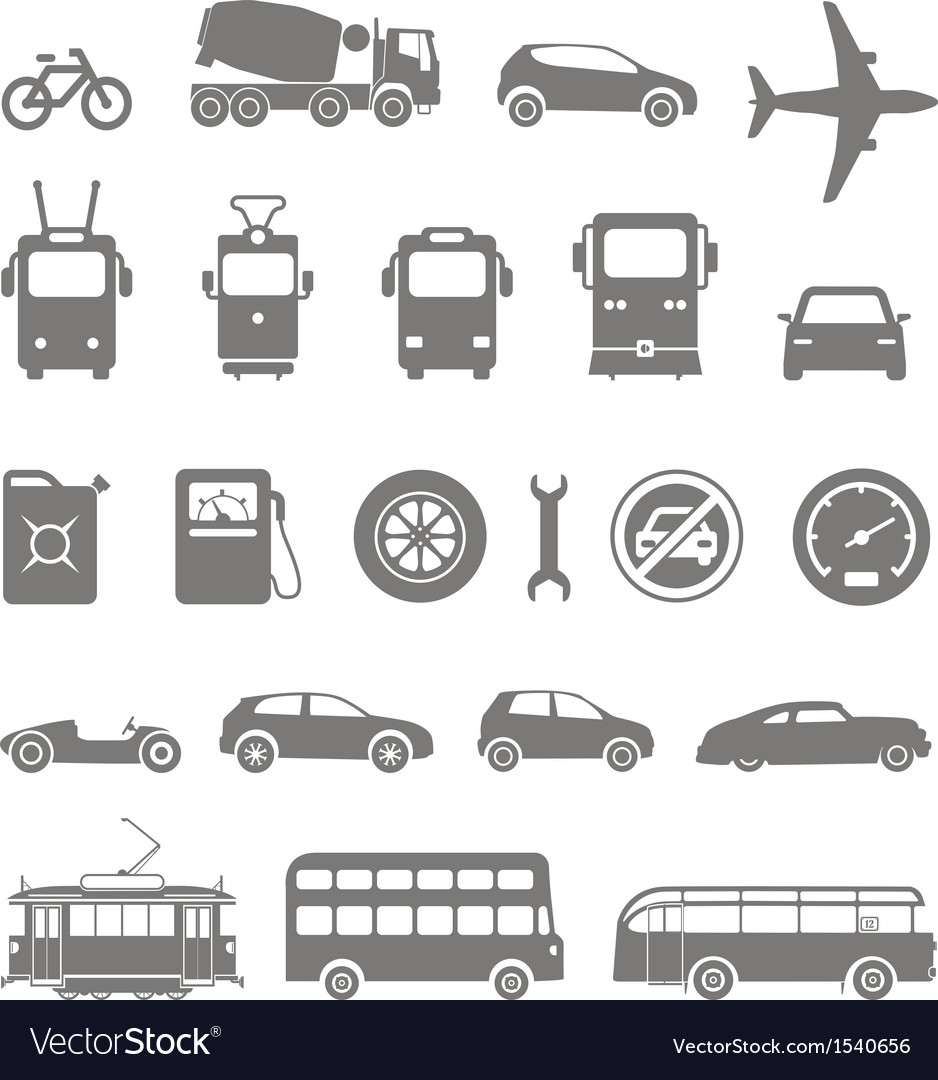 Transport silhouettes vector | Price: 1 Credit (USD $1)