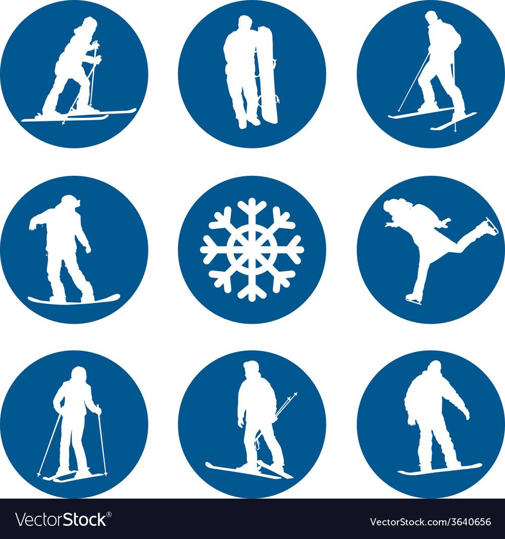 Winter sports designs vector | Price: 1 Credit (USD $1)