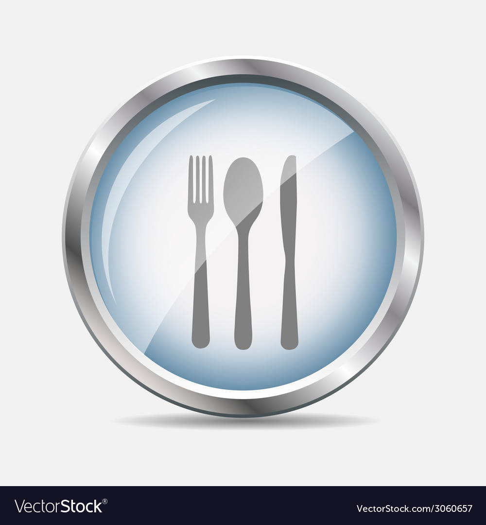 Food and drink glossy icon vector | Price: 1 Credit (USD $1)