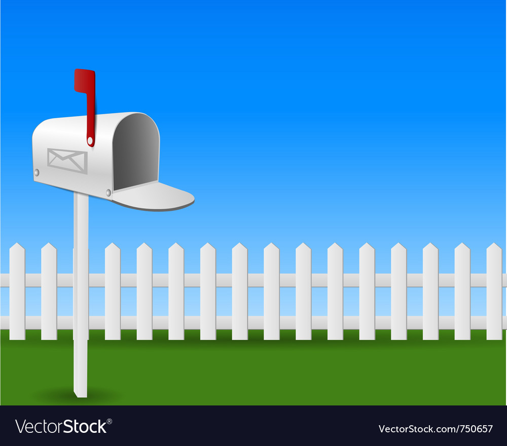 Mail box in the garden vector | Price: 1 Credit (USD $1)