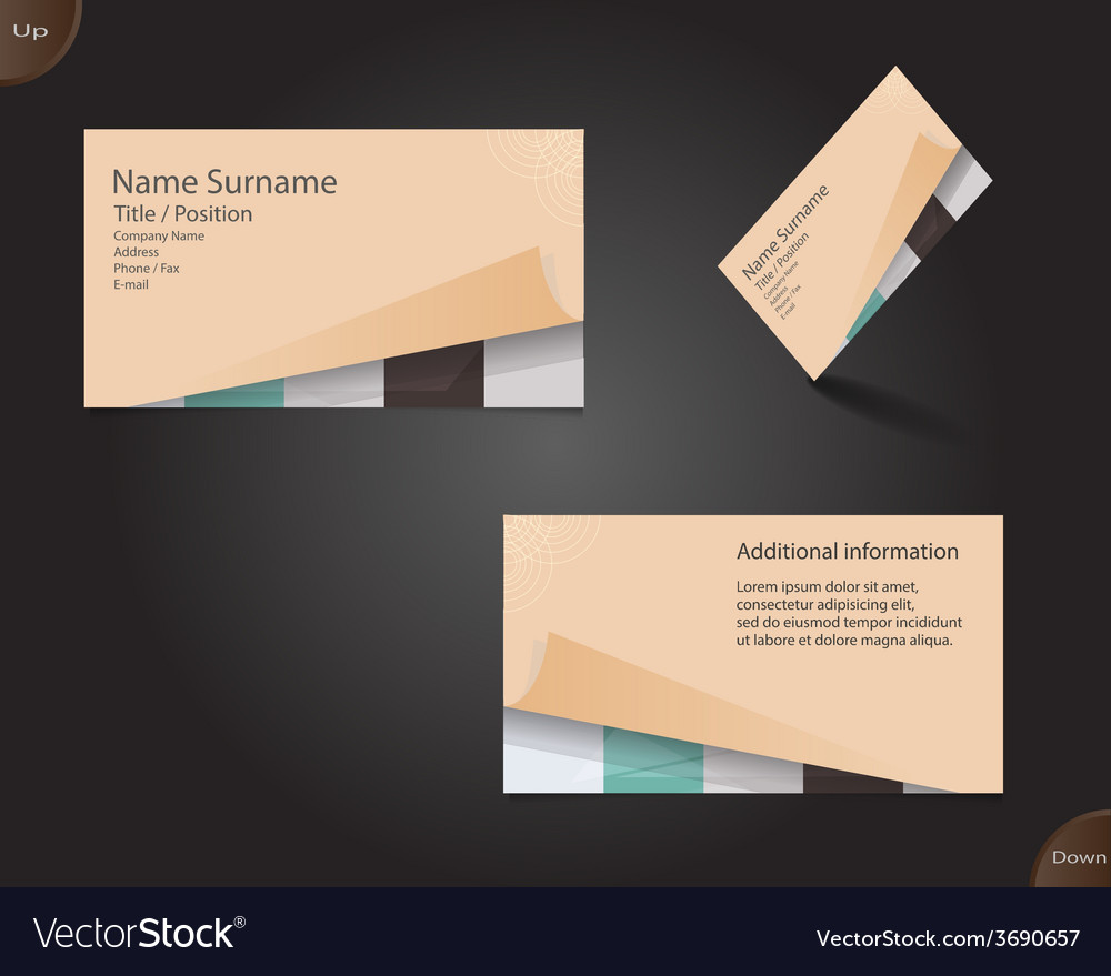 New creamy business card layout vector | Price: 1 Credit (USD $1)