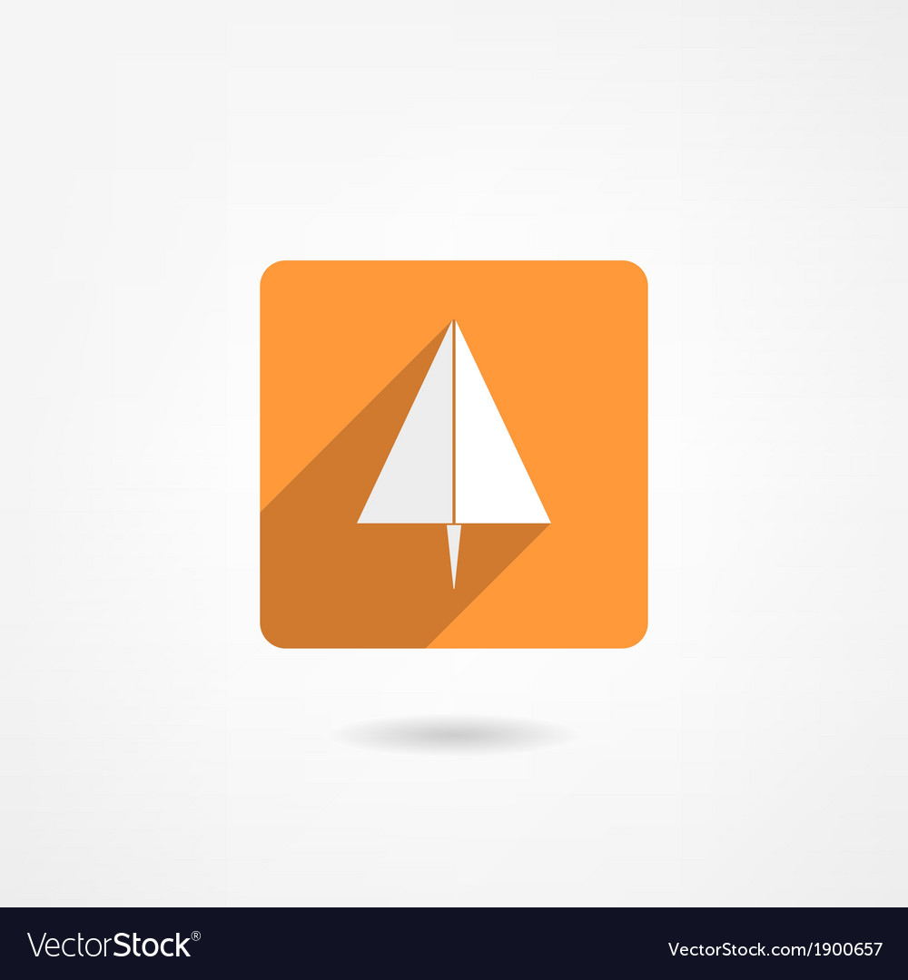 Paper plane icon vector | Price: 1 Credit (USD $1)