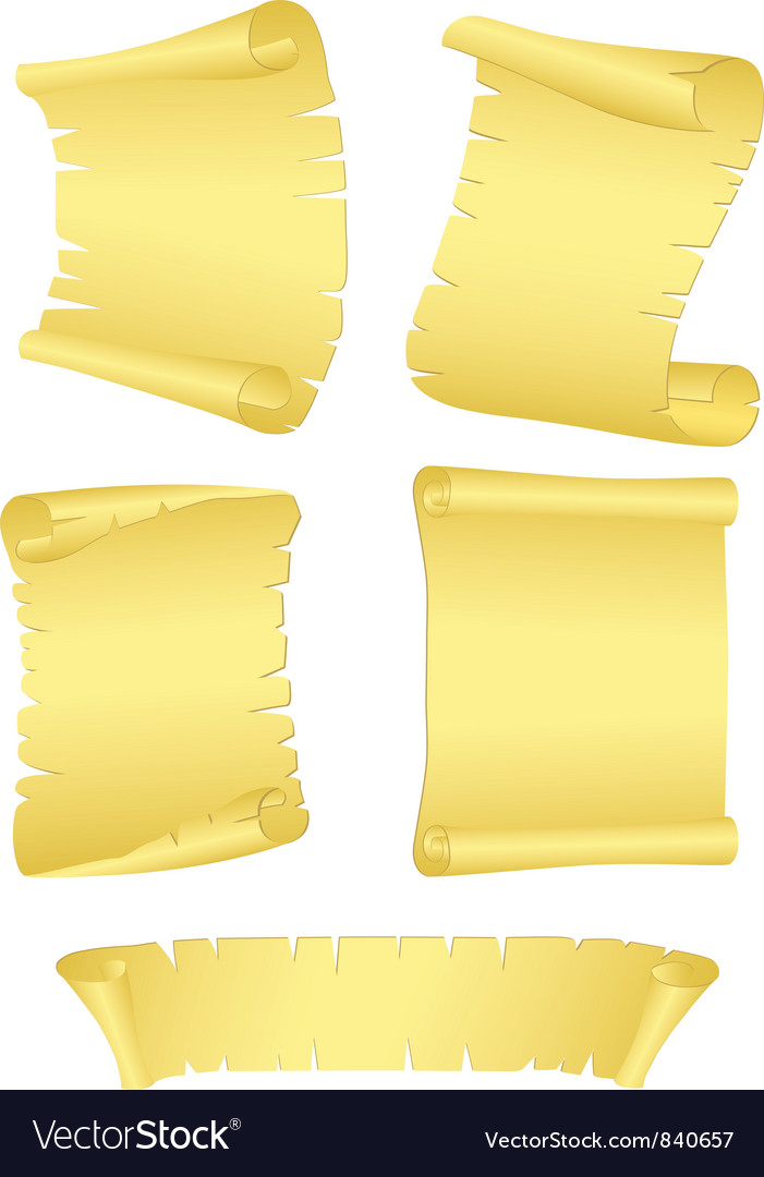 Roll old paper vector | Price: 1 Credit (USD $1)