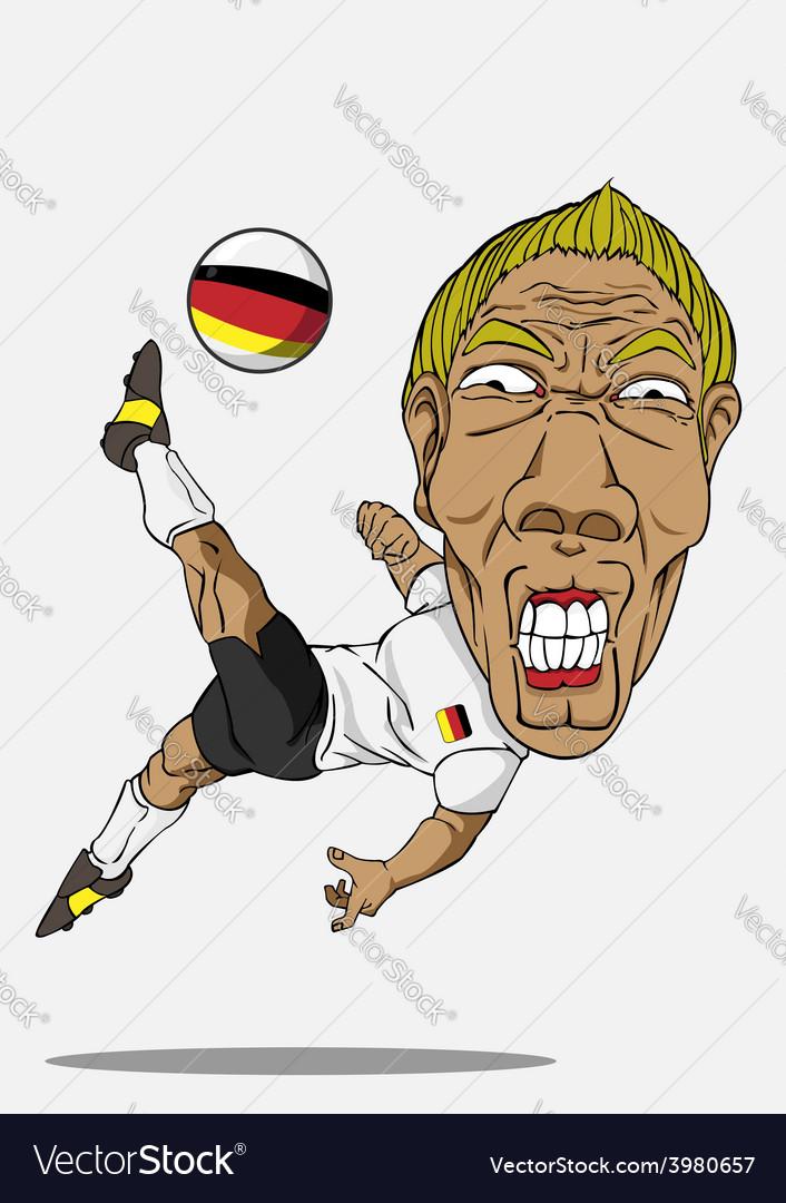 Soccer player german vector   Price: 1 Credit (USD $1)