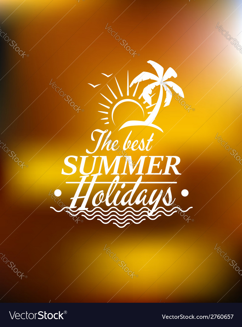 Summer holidays poster design vector | Price: 1 Credit (USD $1)