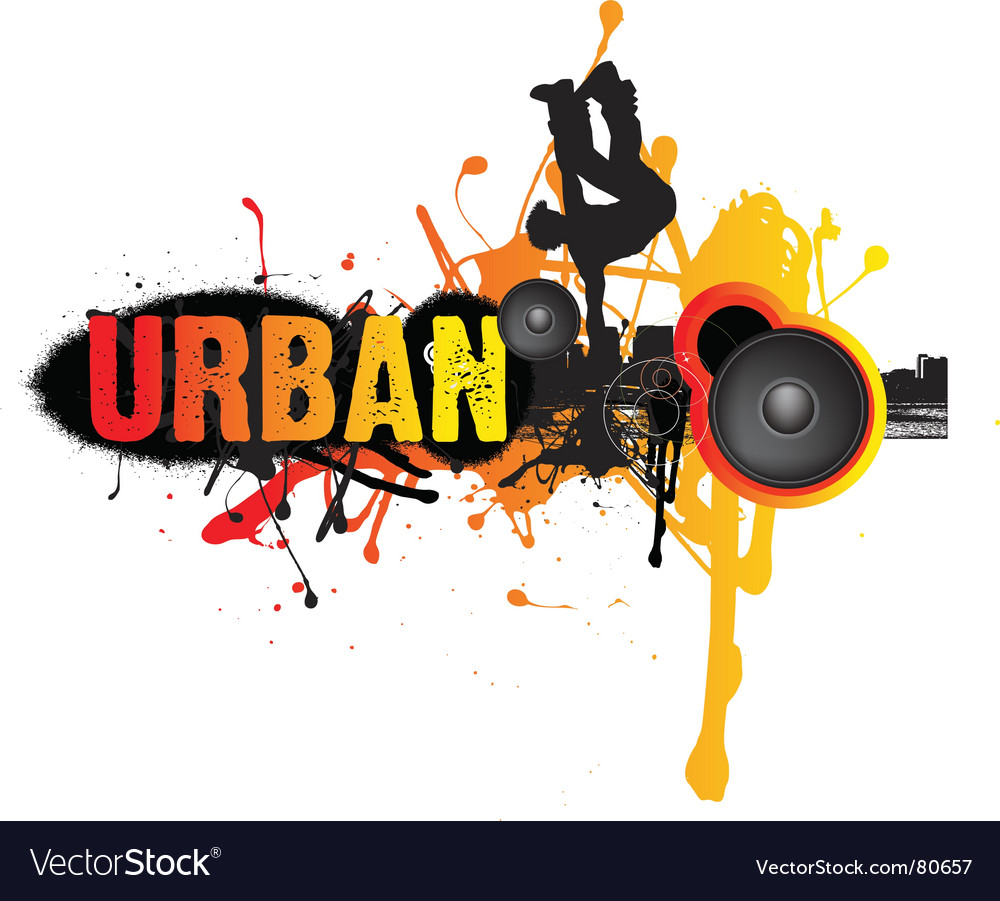 Urban break dance music vector