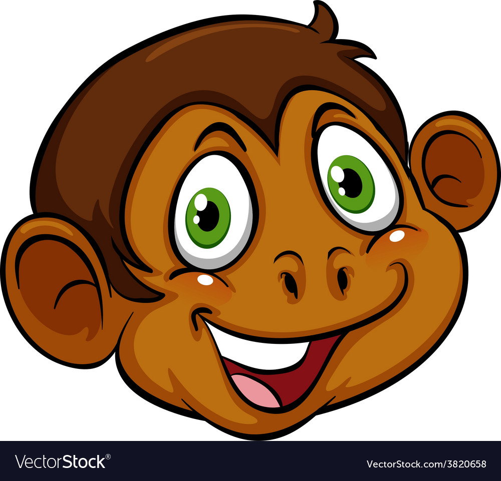 A head of a monkey vector | Price: 1 Credit (USD $1)
