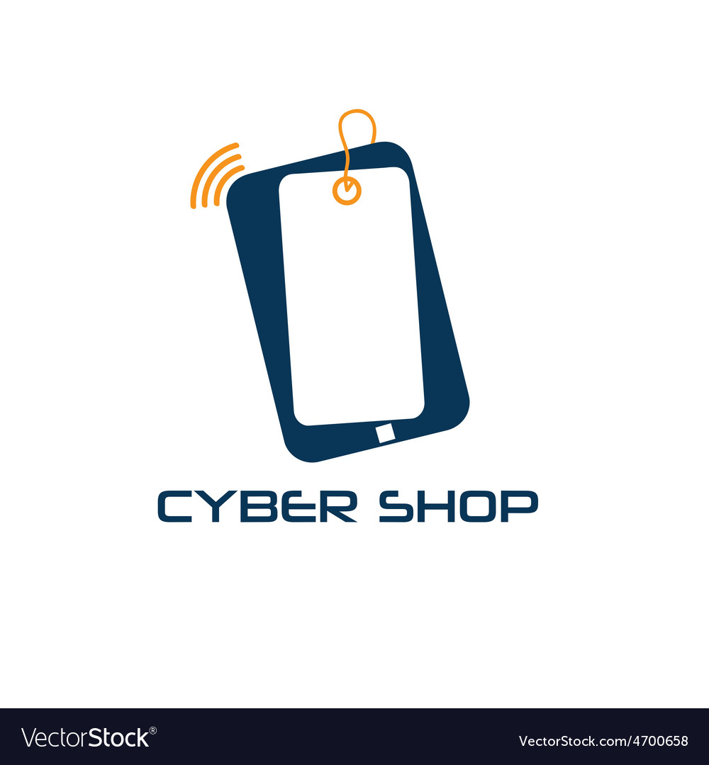 Cyber phone shop design template vector | Price: 1 Credit (USD $1)