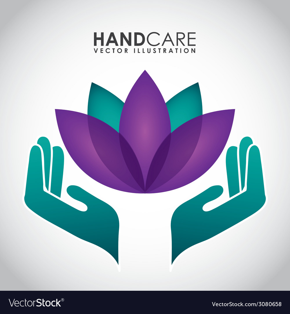 Hand care design vector | Price: 1 Credit (USD $1)