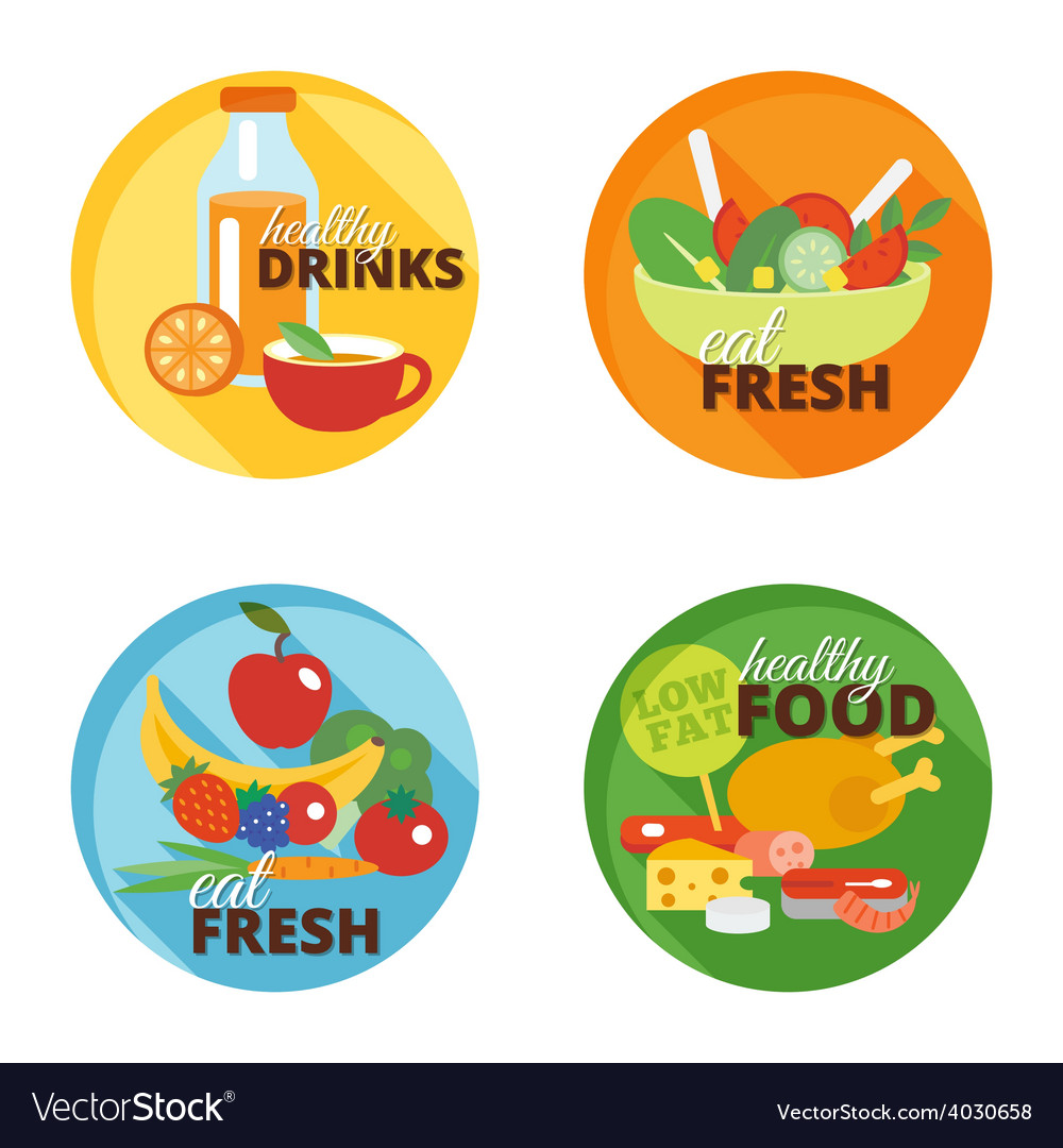 Healthy eating flat icon vector | Price: 1 Credit (USD $1)