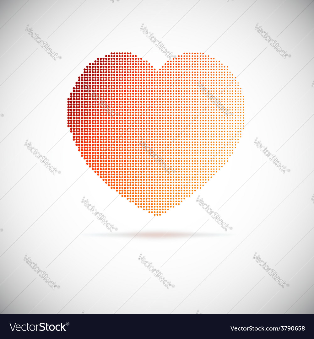Heart halftone vector   Price: 1 Credit (USD $1)