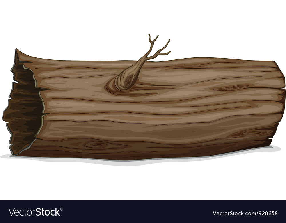 Hollow log vector | Price: 1 Credit (USD $1)