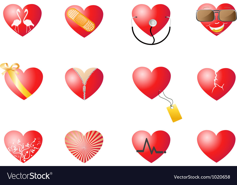 Loving hearts set vector | Price: 1 Credit (USD $1)