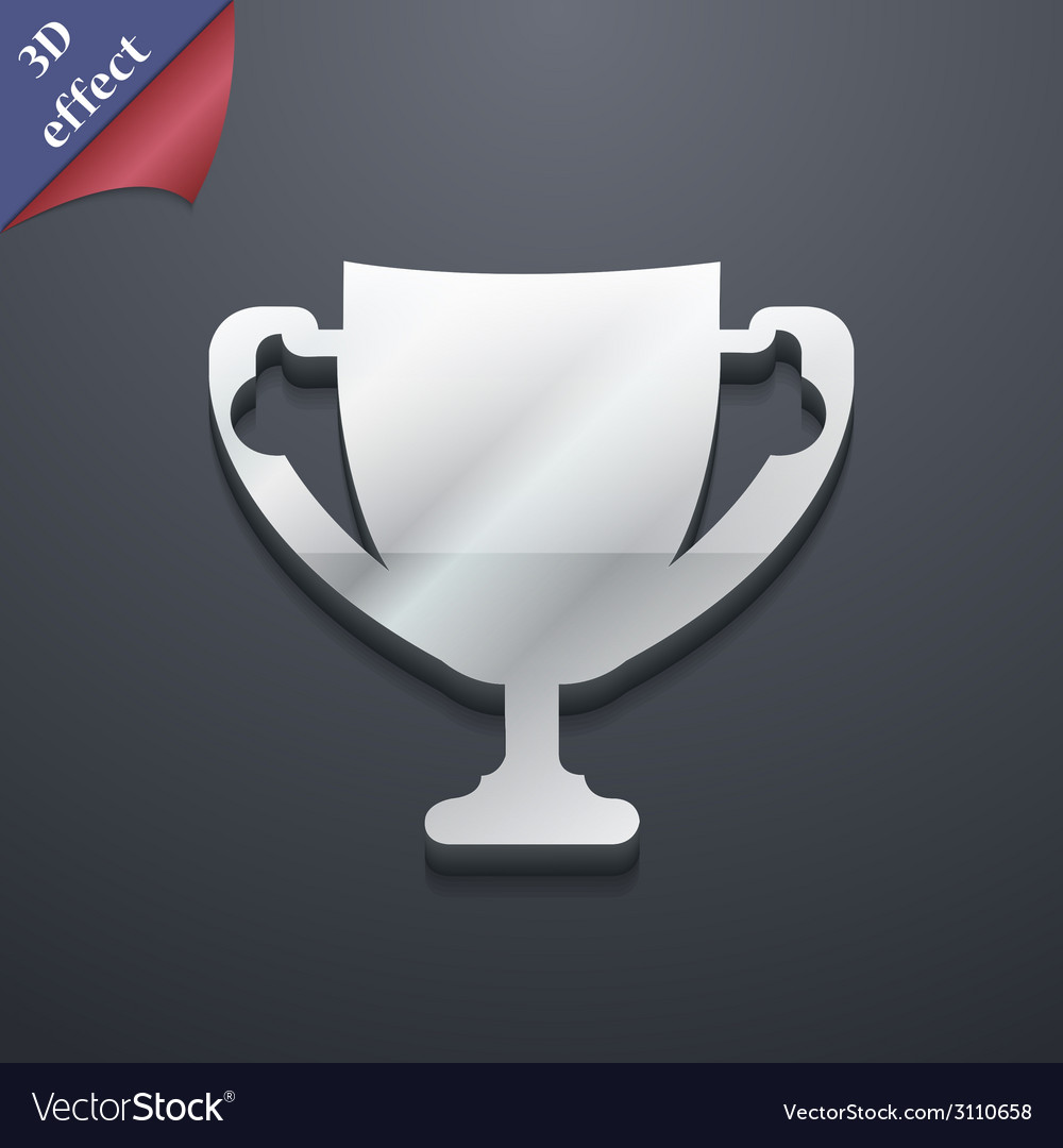 Winner cup icon symbol 3d style trendy modern vector | Price: 1 Credit (USD $1)