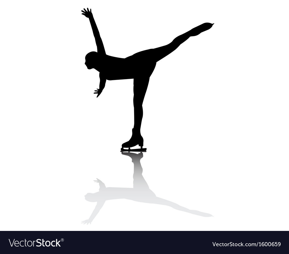 Figure skater vector | Price: 1 Credit (USD $1)