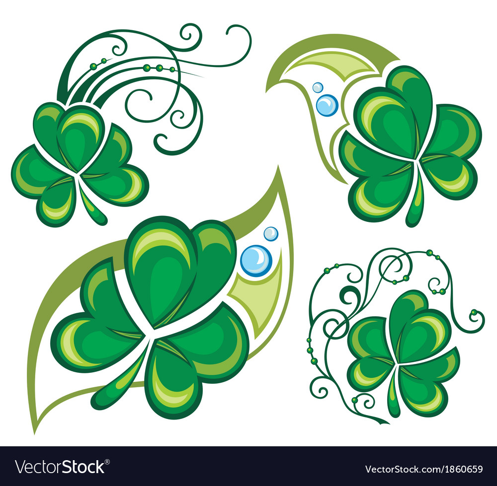Lucky clovers background for happy st patricks day vector | Price: 1 Credit (USD $1)