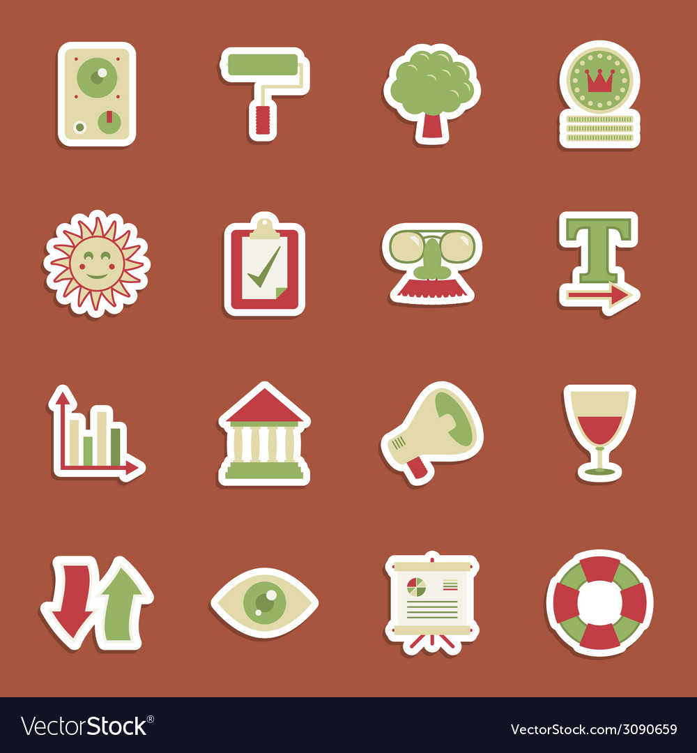 Media stickers vector | Price: 1 Credit (USD $1)