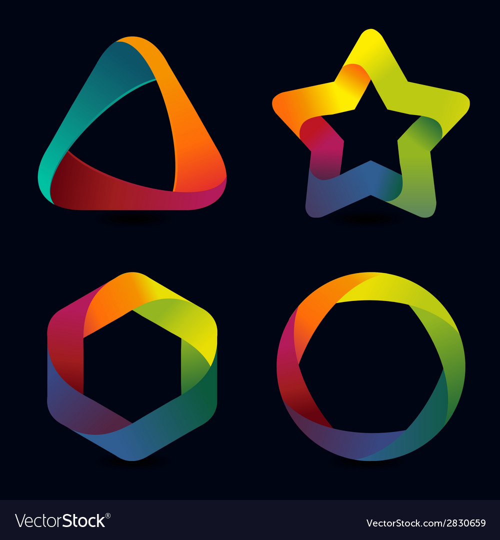 Rainbow logo templates vector | Price: 1 Credit (USD $1)
