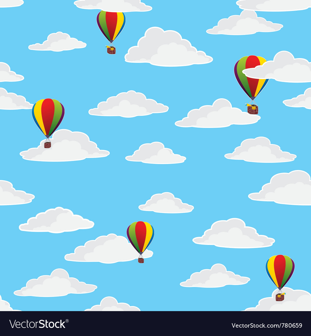 Retro balloons flying vector | Price: 1 Credit (USD $1)