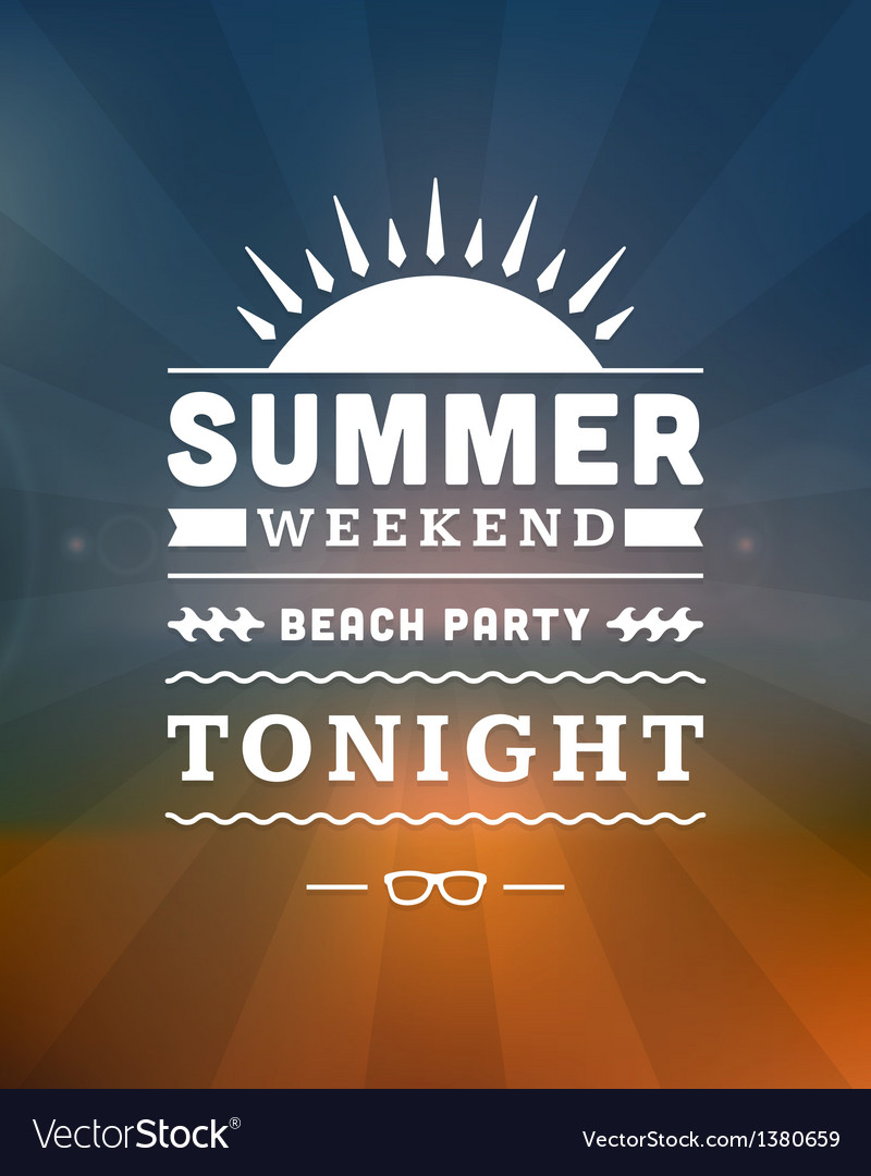 Retro summer design poster vector | Price: 1 Credit (USD $1)