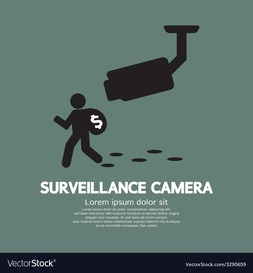 Surveillance camera graphic vector | Price: 1 Credit (USD $1)