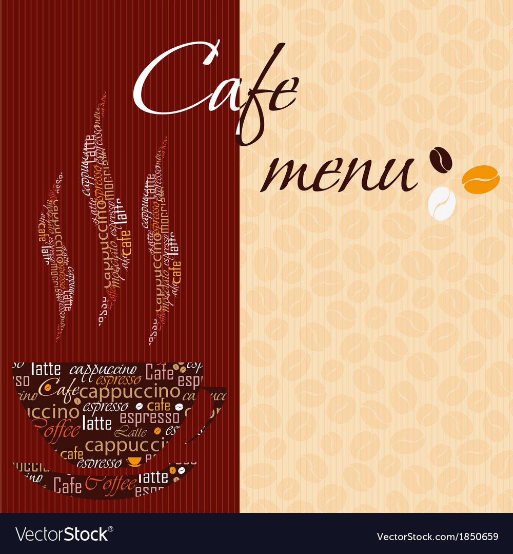 Template of a cafe menu vector | Price: 1 Credit (USD $1)
