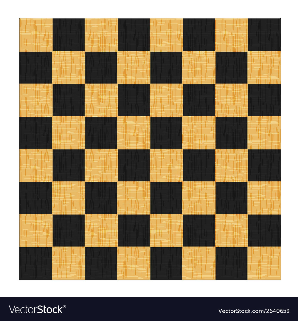Vintage crack old scratched empty chess board vector | Price: 1 Credit (USD $1)