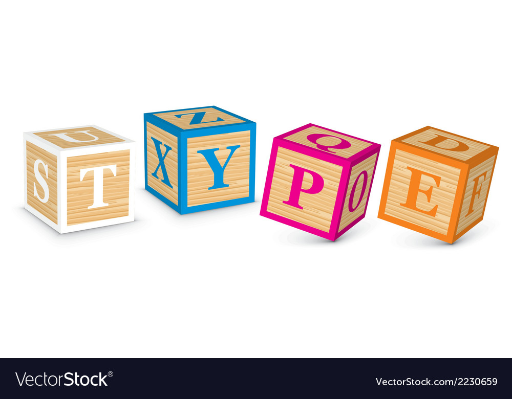 Word type written with alphabet blocks vector | Price: 1 Credit (USD $1)